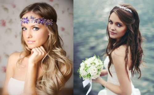 свадебные прически с фатой на короткие, средние, длинные волосы
